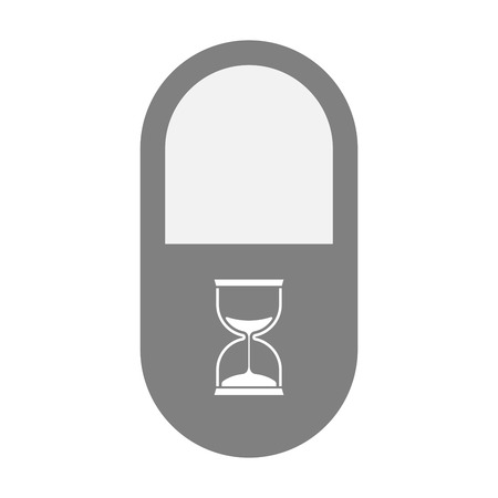 painkiller: Illustration of an isolated pill icon with a sand clock