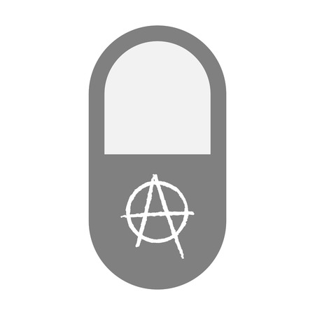 social movement: Illustration of an isolated pill icon with an anarchy sign Illustration