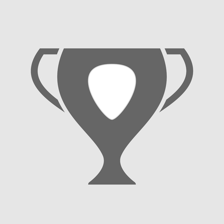 plectrum: Illustration of an isolated award cup icon with a plectrum