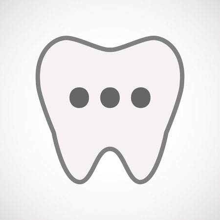 oral communication: Illustration of an isolated line art tooth icon