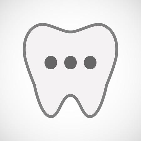 comunicacion oral: Ilustraci�n de un icono del arte de dientes aislados l�nea