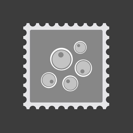 fertilization: Illustration of an isolated  mail stamp icon with oocytes