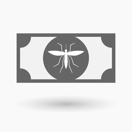 bloodsucker: Illustration of an isolated bank note icon with  a mosquito Illustration