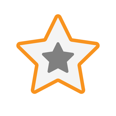incentive: Illustration of an isolated  line art star icon with a star