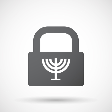 chandelier isolated: Illustration of an isolated lock pad icon with a chandelier