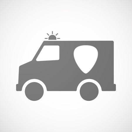 plectrum: Illustration of an isolated ambulance icon with a plectrum Illustration