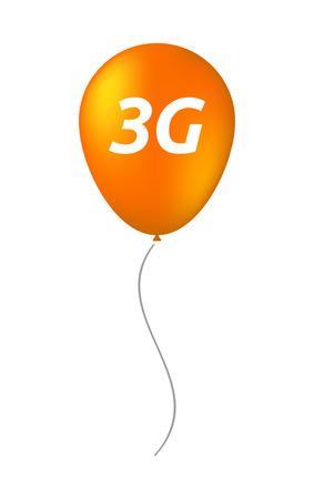 3g: Illustration of an isolated balloon with    the text 3G