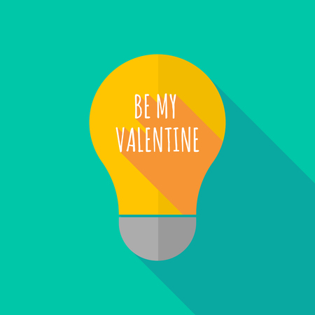 ight: Illustration of a long shadow ight bulb icon with    the text BE MY VALENTINE