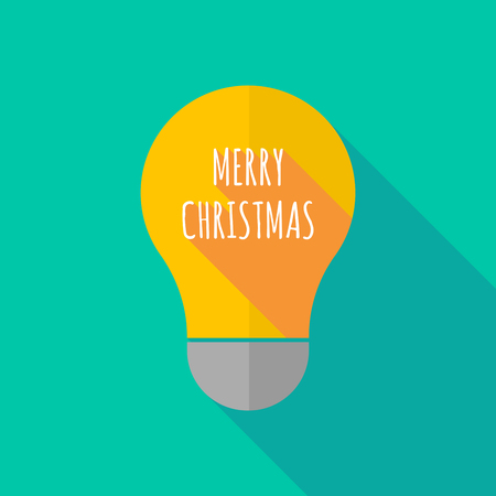 ight: Illustration of a long shadow ight bulb icon with    the text MERRY CHRISTMAS