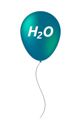 h2o: Illustration of an isolated balloon with    the text H2O Illustration