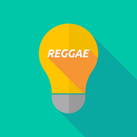 ight: Illustration of a long shadow ight bulb icon with    the text REGGAE