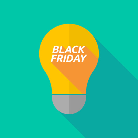 ight: Illustration of a long shadow ight bulb icon with    the text BLACK FRIDAY