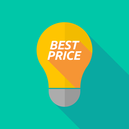 ight: Illustration of a long shadow ight bulb icon with    the text BEST PRICE