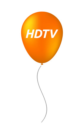 hdtv: Illustration of an isolated balloon with    the text HDTV Illustration