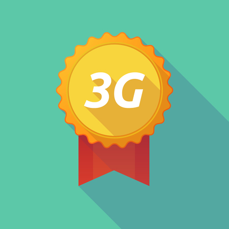 3g: Illustration of a long shadow badge with    the text 3G