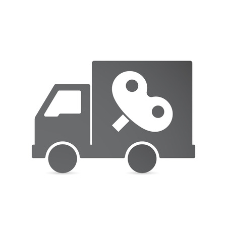 crank: Illustration of an isolated delivery truck with a toy crank
