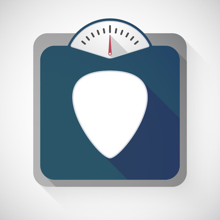 plectrum: Illustration of an isolated long shadow body weight scale with  a plectrum Illustration