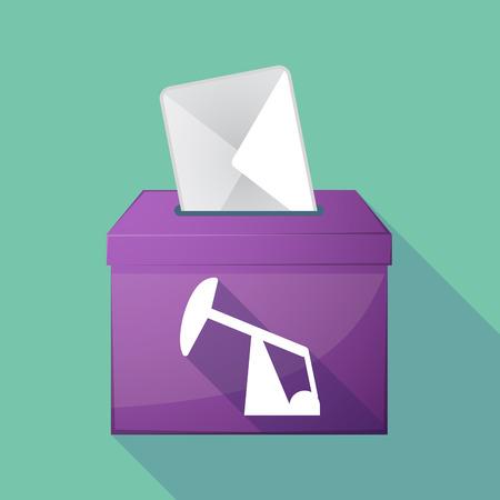 horsehead pump: Illustration of a long shadow ballot box with a horsehead pump Illustration