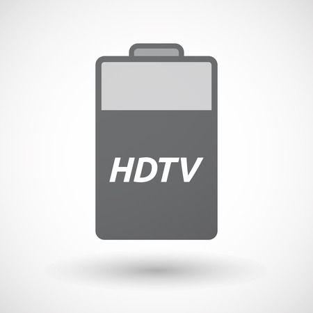 hdtv: Illustration of an isolated battery icon with    the text HDTV