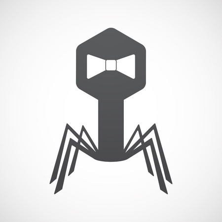 Illustration of an isolated virus icon with  a neck tie icon