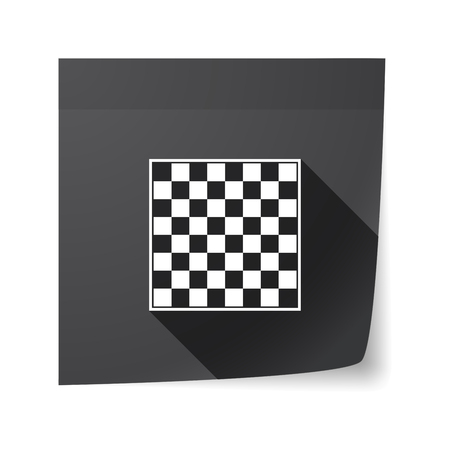 sticky note: Illustration of an isolated sticky note with  a chess board