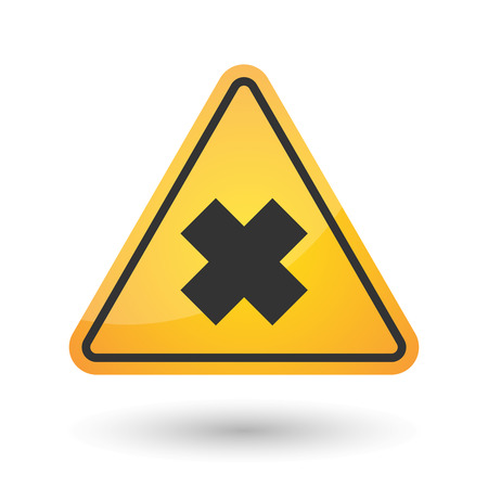 Illustration of an isolated danger signal icon with an irritating substance sign Illustration