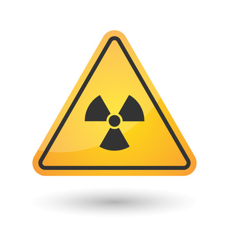 caution chemistry: Illustration of an isolated danger signal icon with a radio activity sign Illustration