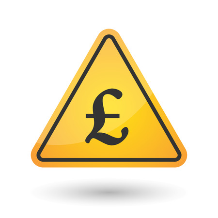 Illustration of an isolated danger signal icon with a pound sign Illustration