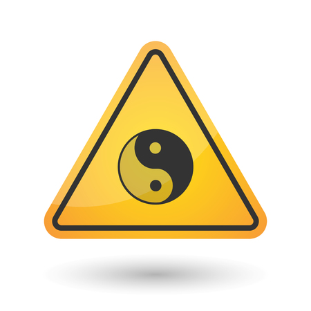 tao: Illustration of an isolated danger signal icon with a ying yang