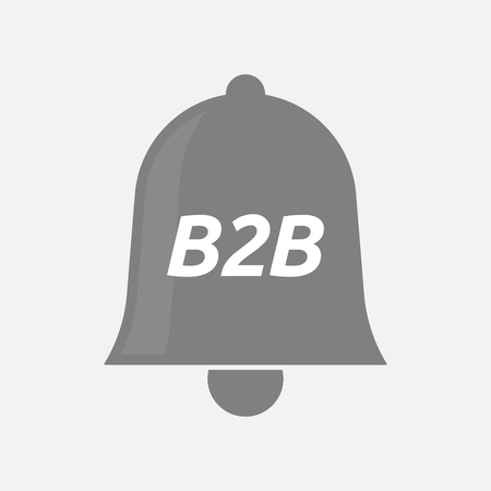 b2b: Illustration of an isolated bell icon with    the text B2B