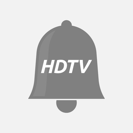 hdtv: Illustration of an isolated bell icon with    the text HDTV