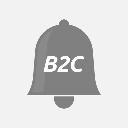 b2c: Illustration of an isolated bell icon with    the text B2C