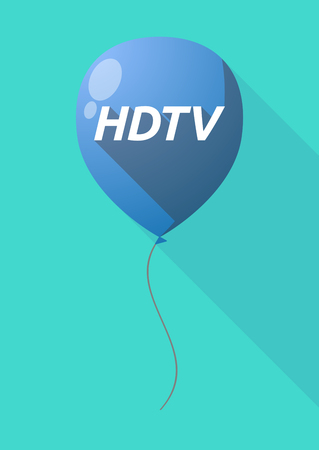 hdtv: Illustration of a long shadow decorative air balloon icon with    the text HDTV