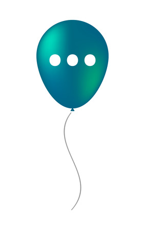 ellipsis: Illustration of an isolated decorative air balloon icon with  an ellipsis orthographic sign Illustration