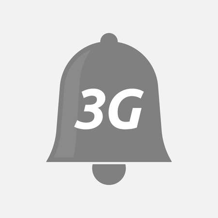 3g: Illustration of an isolated bell icon with    the text 3G