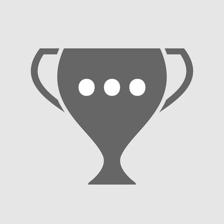 ellipsis: Illustration of an isolated award cup vector icon with  an ellipsis orthographic sign Illustration