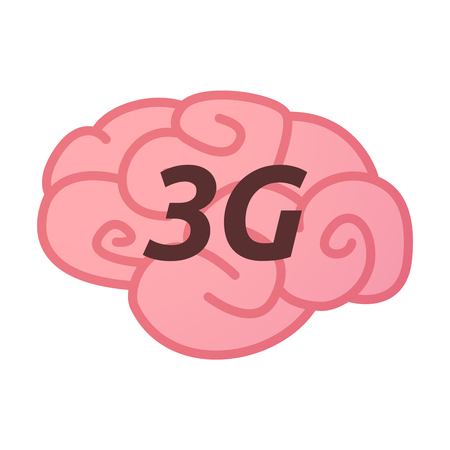 Illustration of an isolated brain icon with    the text 3G