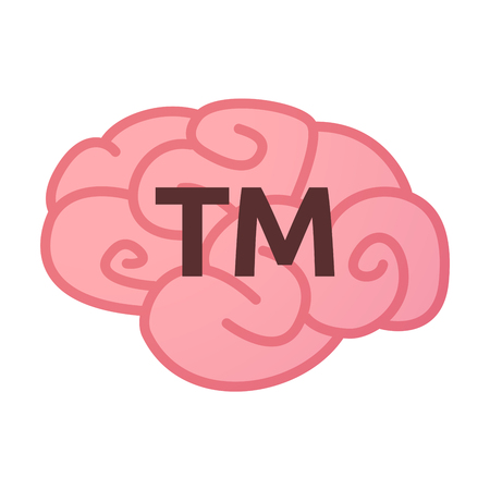 Illustration of an isolated brain icon with    the text TM