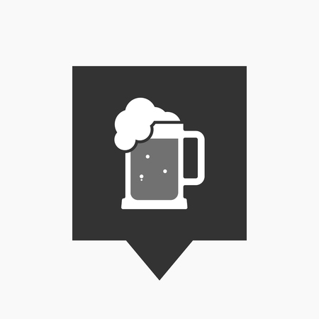 beer jar: Ilustración de un icono de información de herramienta aislado con un icono de jarra de cerveza