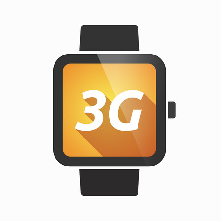3g: Illustration of an isolated smart watch icon with    the text 3G