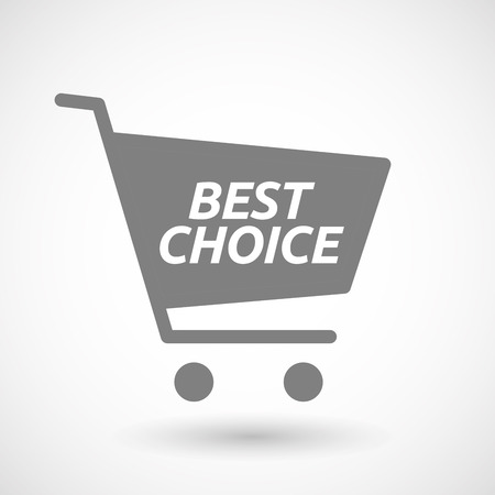 hopping: Illustration of an isolated hopping cart icon with    the text BEST CHOICE Illustration