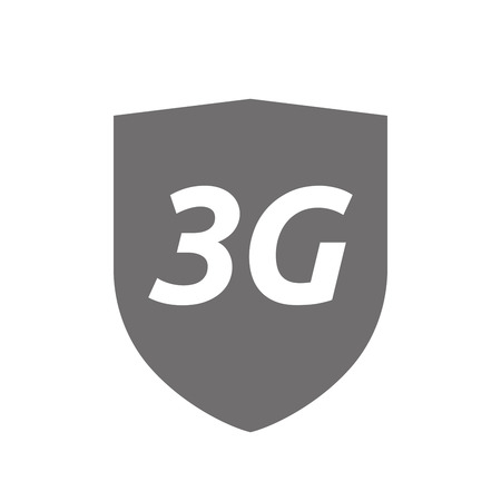 3g: Illustration of an isolated protecting shield or insignia icon with   the text 3G
