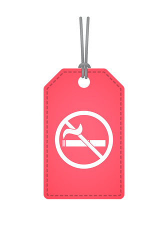 Illustration of an isolated product label with  a no smoking sign Illustration