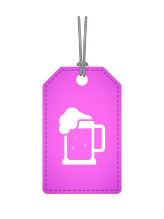 beer jar: Ilustración de una etiqueta de producto aislado con un icono de jarra de cerveza