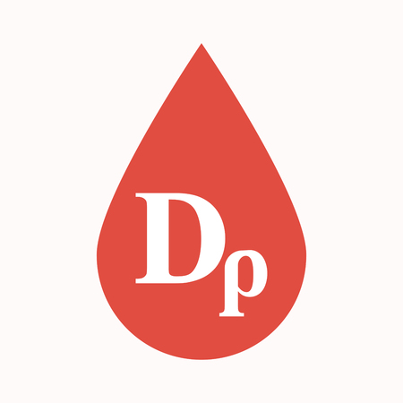 Illustration of an isolated blood drop sign with a drachma currency sign Illustration