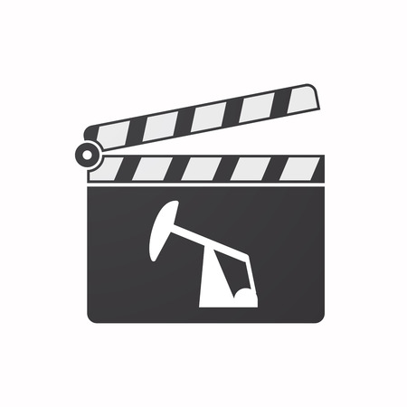 horsehead pump: Illustration of an isolated clapper board with a horsehead pump