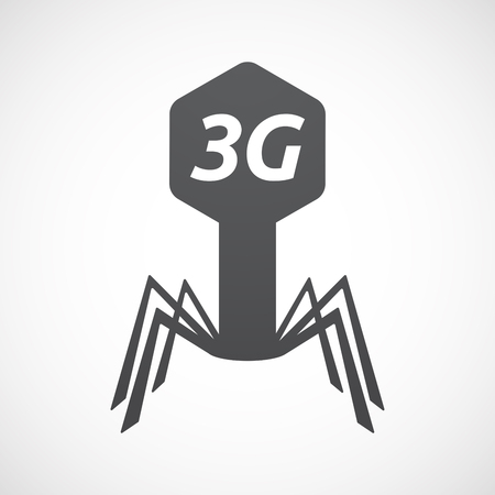 Illustration of an isolated virus with    the text 3G