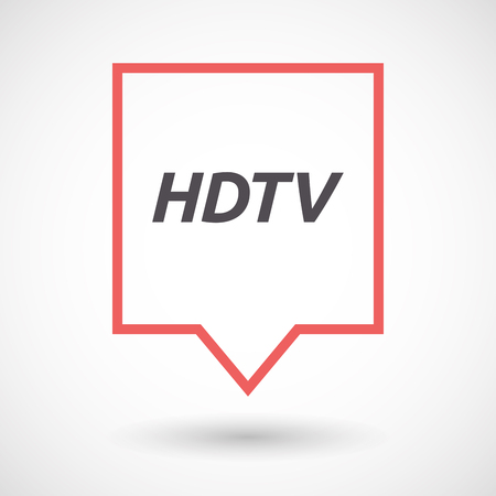hdtv: Illustration of an isolated line art tooltip with    the text HDTV