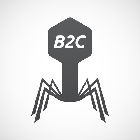 Illustration of an isolated virus with    the text B2C