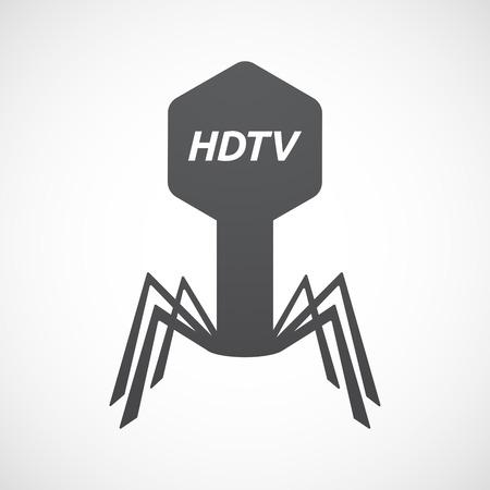 hdtv: Illustration of an isolated virus with    the text HDTV Illustration